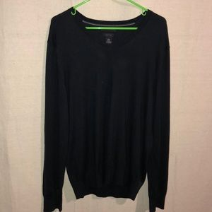 BANANA REPUBLIC BLACK VNECK SWEATER SILK CASHMERE